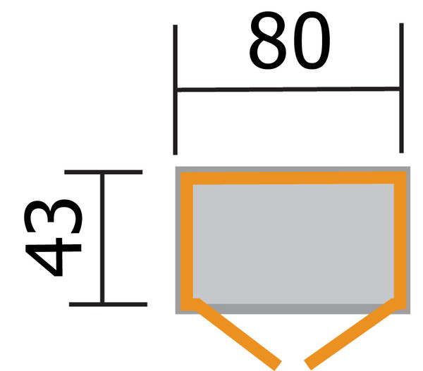 Weka Balkon- und Terrassenschrank 195 A, 80 x 43 x 180 cm