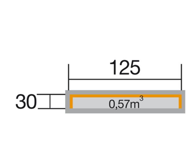 Weka Brennholzlager 663 A