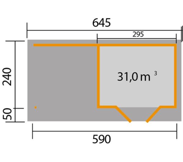 weka Designhaus 126 B, Gr. 1