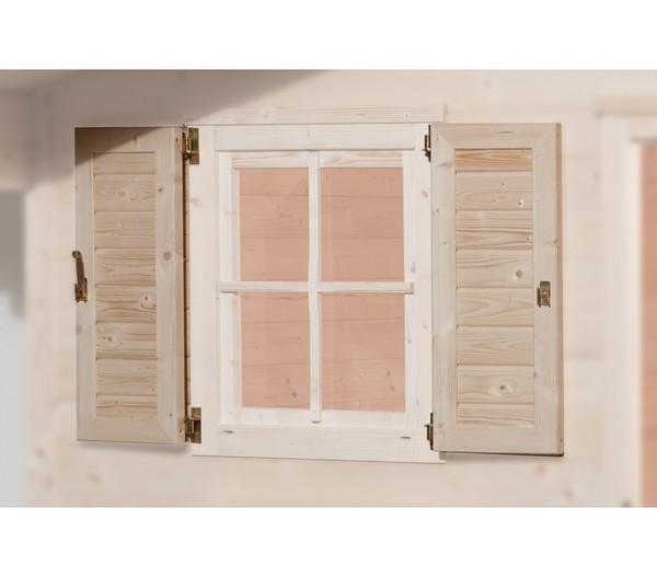Weka fensterladen 2 seitig f r fenster 69 x 79 cm dehner for Fenster schnelle lieferung