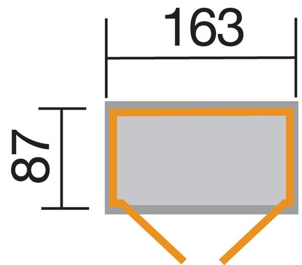 Weka Garten- und Terrassenschrank 357