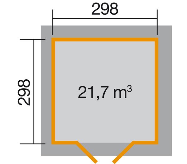 Weka Gartenhaus 177, Gr. 2