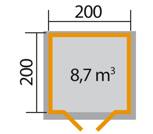 Weka Gartenhaus 209 Gr. 1