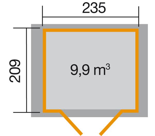 Weka Gartenhaus 224 Gr. 2