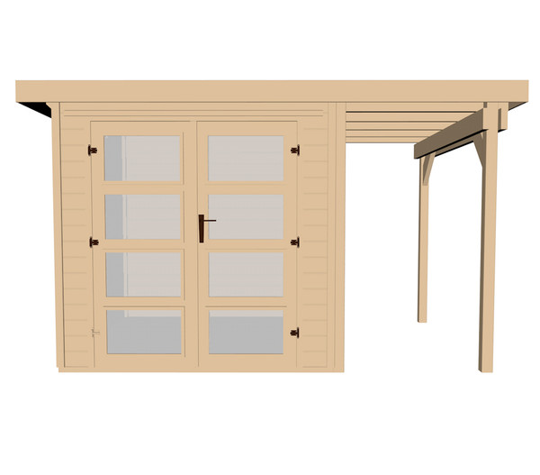 weka gartenhaus 321 115 cm anbau dehner. Black Bedroom Furniture Sets. Home Design Ideas
