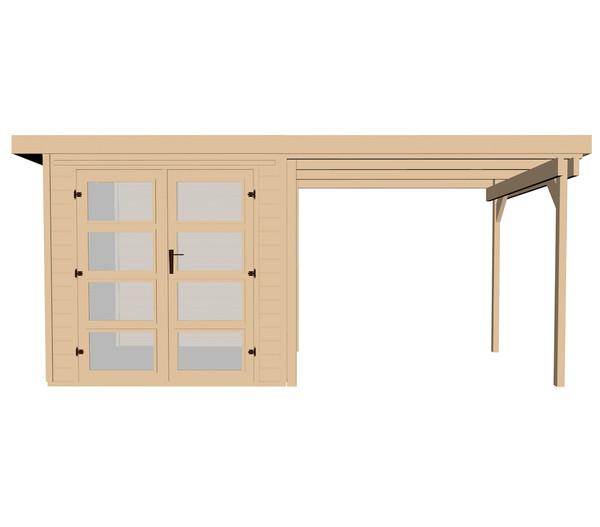 weka gartenhaus 321 230 cm anbau dehner. Black Bedroom Furniture Sets. Home Design Ideas