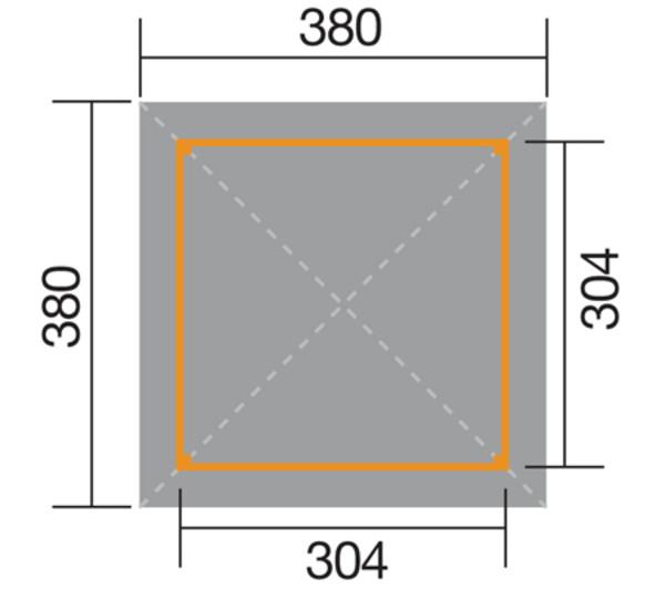 Weka Gartenoase 651 Gr. 3 mit DS