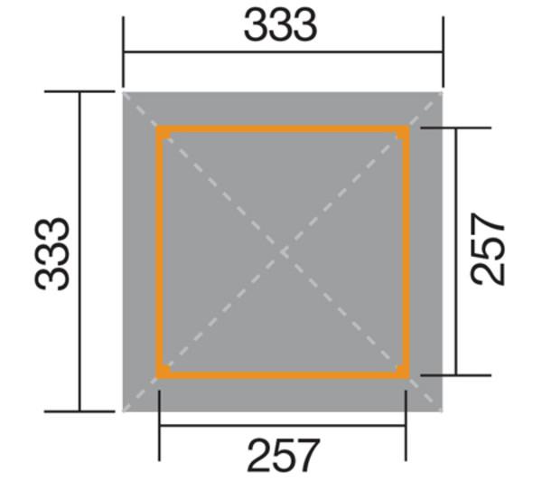 Weka Gartenose 651 Gr. 2 mit Dachschindeln
