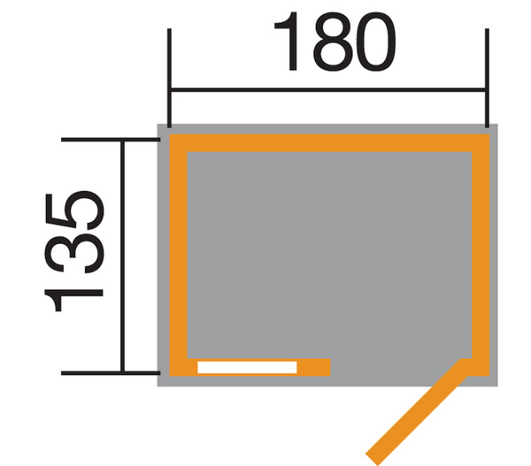 Weka Gerätehaus 345 Gr. 2, 135 x 180 cm