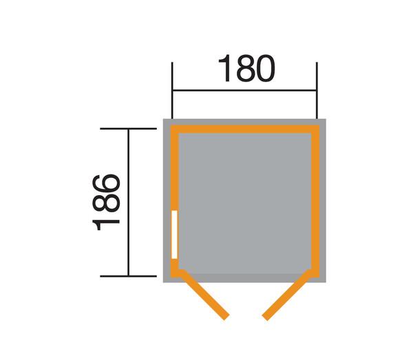 Weka Gerätehaus 346 Gr. 3