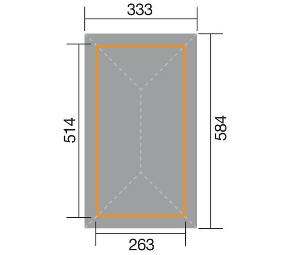 Weka Premium-Carport 651 Gr. 1