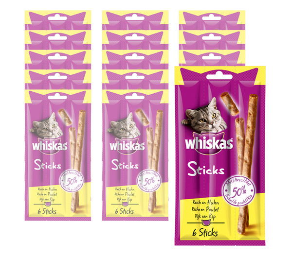 Whiskas® Sticks, Katzensnack, 14 x 6 Stück