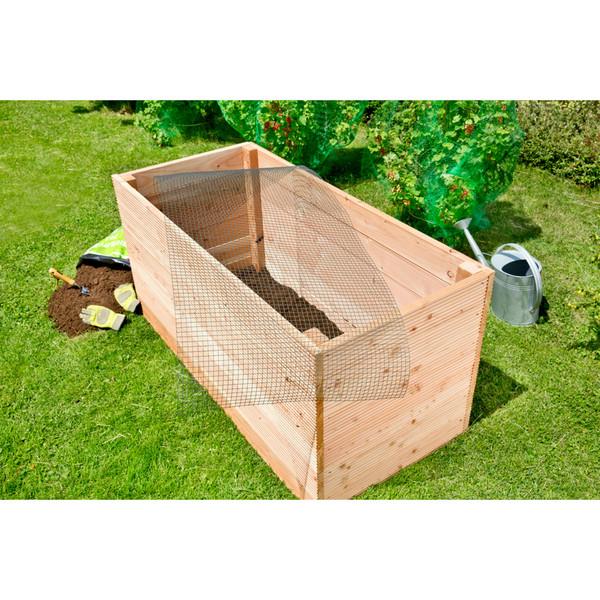 Wühlmausgitter für Hochbeete und Komposter, ca. B110/T210 cm