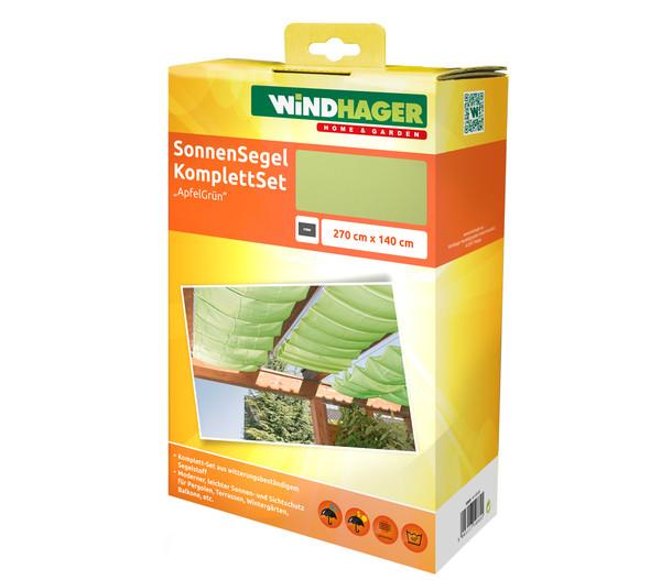 Windhager Sonnensegel Set, 270 x 140 cm