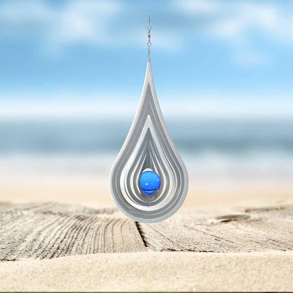 Windspiel Aqua mit blauer Kugel