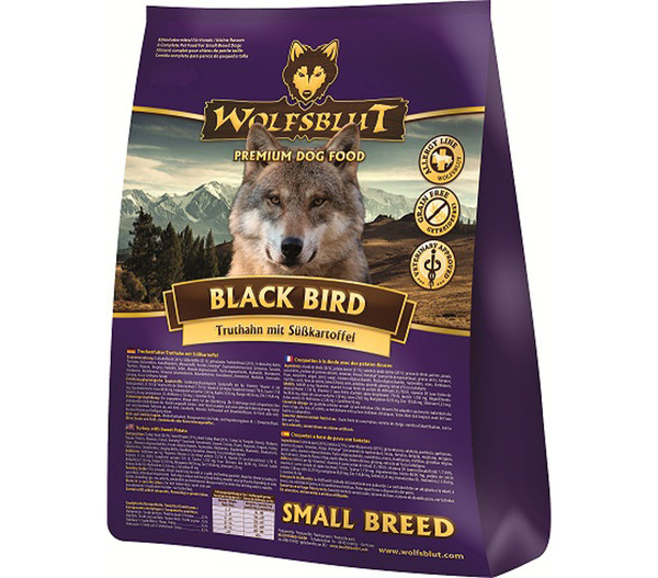 Wolfsblut Black Bird Small Breed Truthahn & Süßkartoffel, Trockenfutter