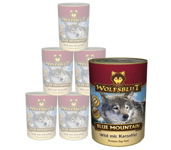 Wolfsblut Blue Mountain, Wild & Kartoffel, Nassfutter, 6 x 395g