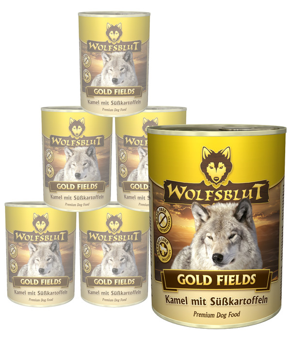 Wolfsblut Gold Fields, Kamel & Süßkartoffel, Nassfutter, 6 x 395g