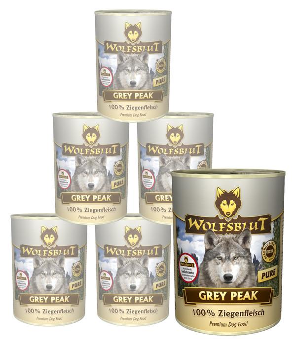 Wolfsblut Grey Peak PURE Wildziege, Nassfutter, 6 x 395g