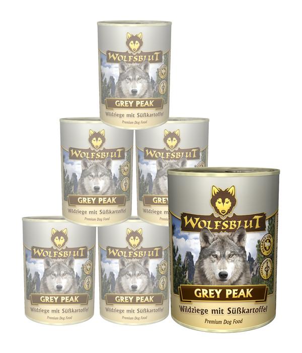 Wolfsblut Grey Peak, Wildziege & Süßkartoffel, Nassfutter, 6 x 395g