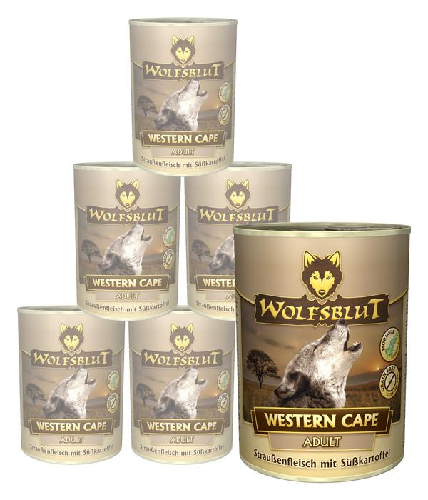 Wolfsblut Western Cape Strauß & Gemüse, Nassfutter, 6 x 395g