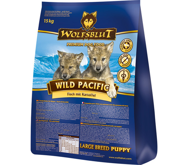 Wolfsblut Wild Pacific Large Breed Puppy Fisch & Kartoffel, Trockenfutter