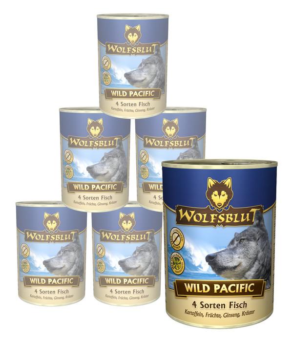 Wolfsblut Wild Pacific, Seefisch & Kartoffel, Nassfutter, 6 x 395 g