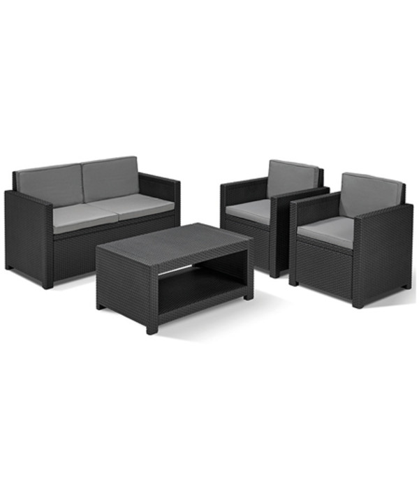allibert loungeset monaco grau dehner. Black Bedroom Furniture Sets. Home Design Ideas