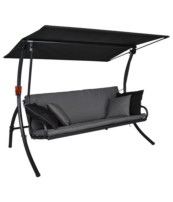 angerer hollywoodschaukel elegance style grau 3 sitzer dehner. Black Bedroom Furniture Sets. Home Design Ideas