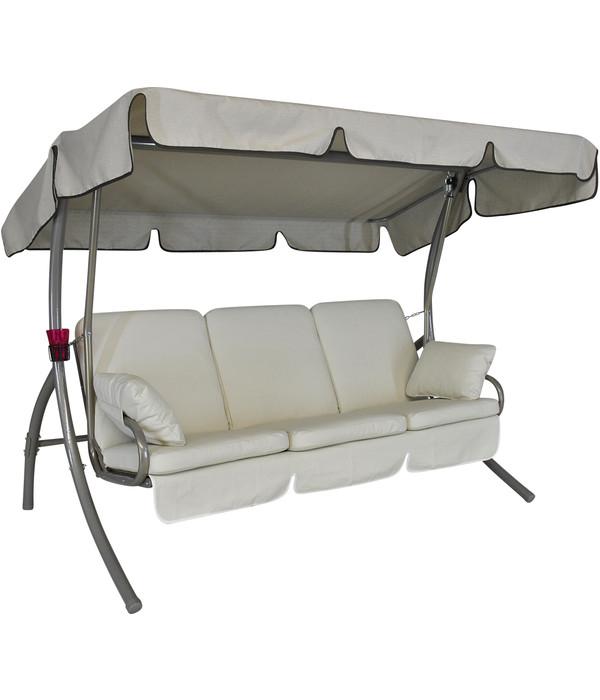 angerer hollywoodschaukel premium comfort creme 3 sitzer. Black Bedroom Furniture Sets. Home Design Ideas
