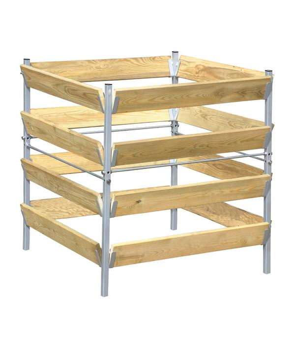 Bellissa Komposter Holz Metall 90 X 90 X 90 Cm Dehner