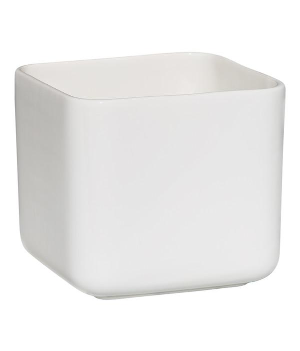 bertopf aus keramik eckig wei 14 x 14 x 16 cm dehner. Black Bedroom Furniture Sets. Home Design Ideas