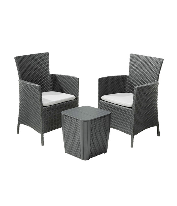 best balkon set napoli graphit 3 teilig dehner. Black Bedroom Furniture Sets. Home Design Ideas