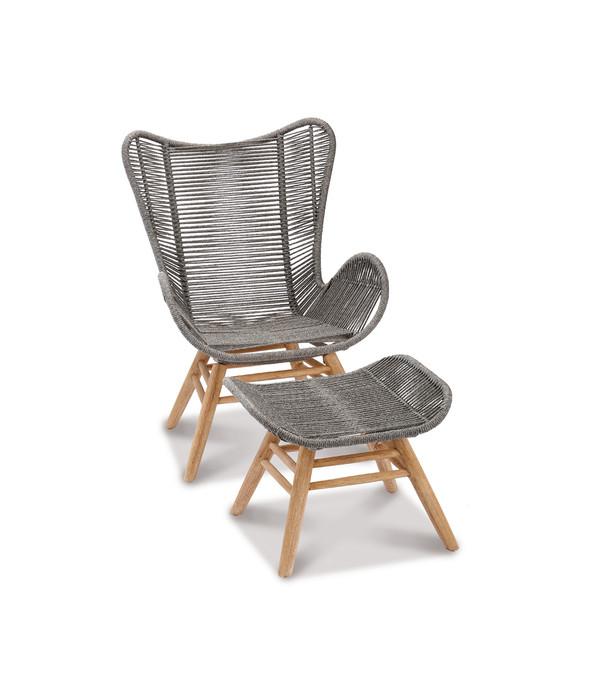 Best Relax Lounge Sessel Mit Fusshocker Asmara Grandis Hartholz