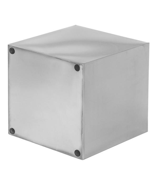 dehner edelstahl blumentopf quadratisch silber dehner. Black Bedroom Furniture Sets. Home Design Ideas