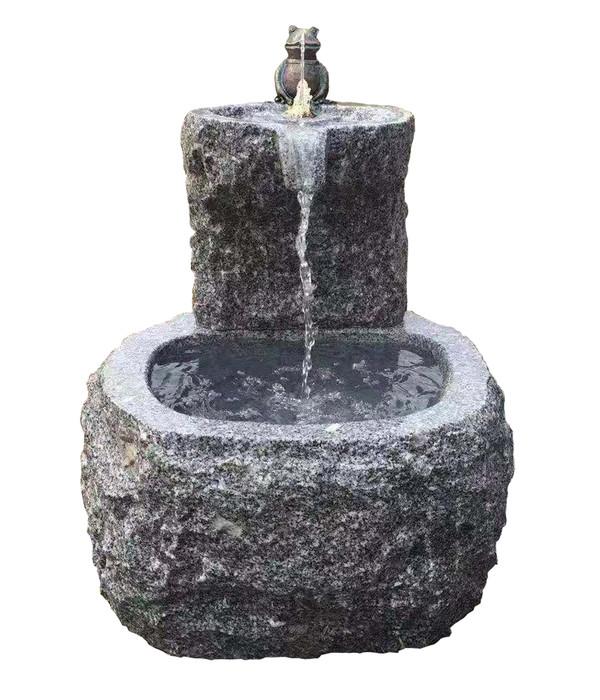 Dehner Granit Gartenbrunnen Frosch Ca O50 H55 Cm Dehner