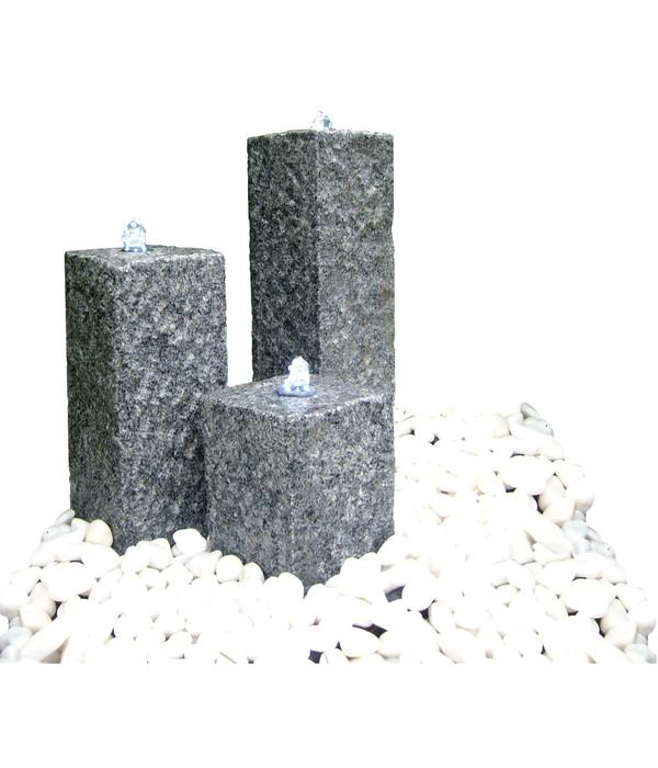 Dehner Granit-Gartenbrunnen Nizza, 56 x 56 x 77 cm | Dehner