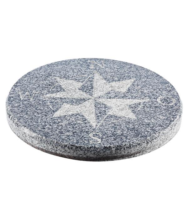 Dehner Granit Kompassstein Schwarz Grau O 40 Cm Dehner