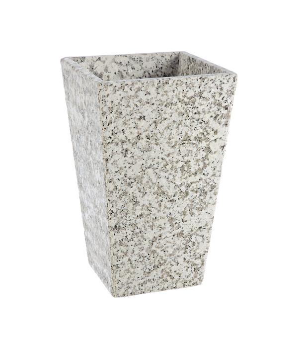 Dehner Granit-Topf, konisch, grau, 30 x 30 x 49 cm | Dehner