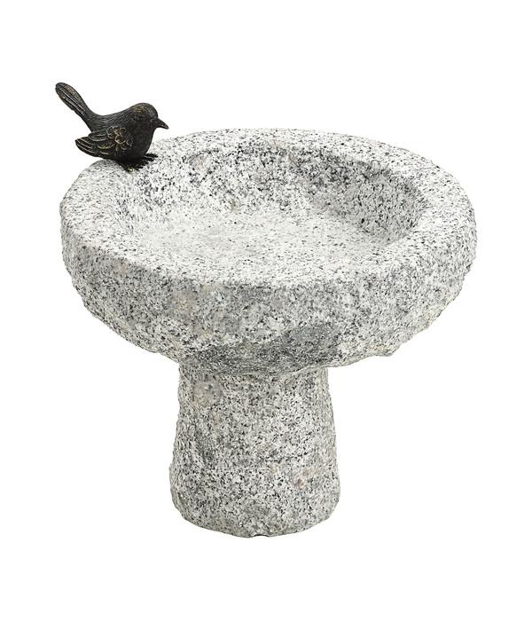 Dehner Granit-Vogeltränke, 30 x 30 x 30 cm | Dehner