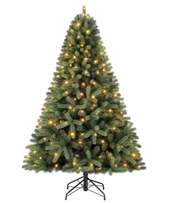 dehner k nstlicher weihnachtsbaum tanne 39 stellan 39 mit led. Black Bedroom Furniture Sets. Home Design Ideas