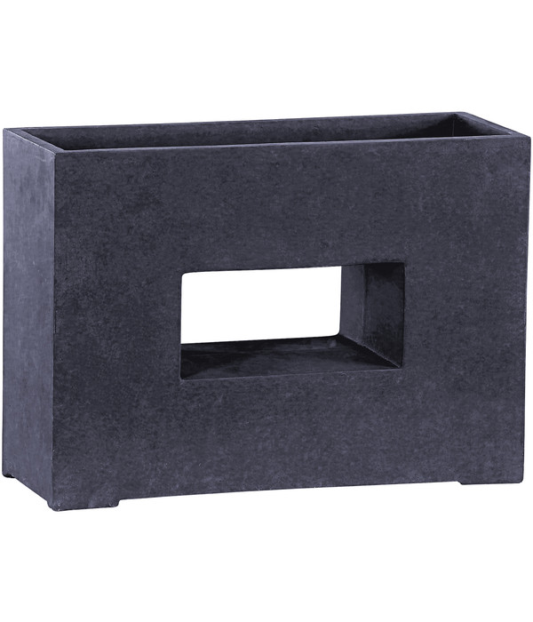 dehner leichtbeton pflanztopf mit loch graphit dehner. Black Bedroom Furniture Sets. Home Design Ideas