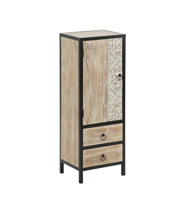 dehner markenqualit t hochschrank bali mit schubladen 43 x 33 x 120 cm dehner. Black Bedroom Furniture Sets. Home Design Ideas