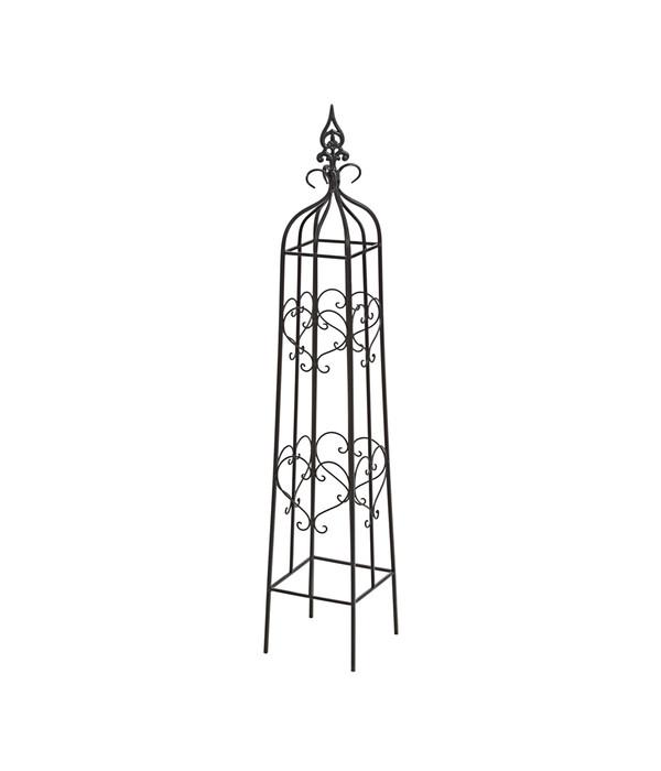 dehner metall rankobelisk heart grau dehner. Black Bedroom Furniture Sets. Home Design Ideas