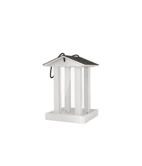 dehner natura vogelhaus futtersilo weiss dehner. Black Bedroom Furniture Sets. Home Design Ideas