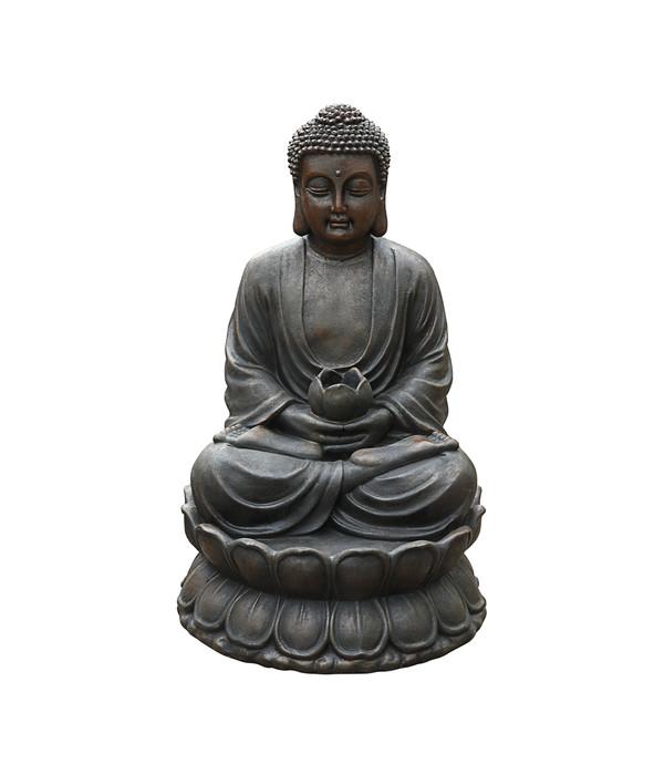 Dehner Polyresin Gartenbrunnen Buddha 495 X 80