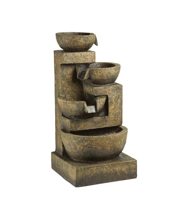 dehner polyresin gartenbrunnen roma 40 x 40 x 82 cm dehner. Black Bedroom Furniture Sets. Home Design Ideas