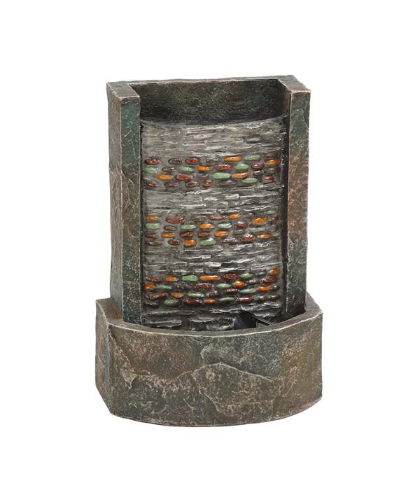 tischbrunnen dehner polyresin zimmerbrunnen girona beleuchtet gunstig kaufen