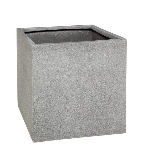 Dehner Polystone Pflanztopf Quadratisch Grau Dehner