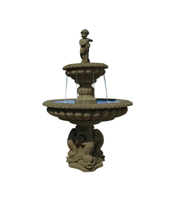 Fantasieco Stein Gartenbrunnen Milano, Ø 115 X 173 Cm